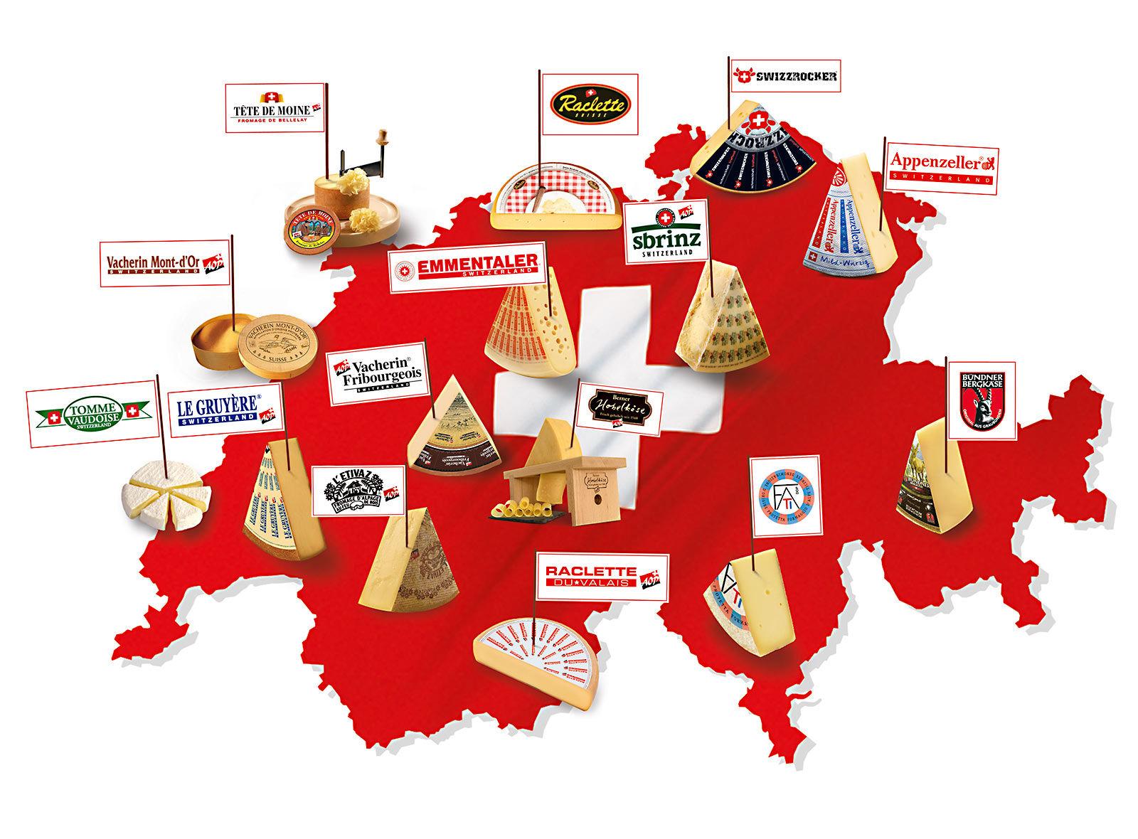 Käsekarte Schweiz