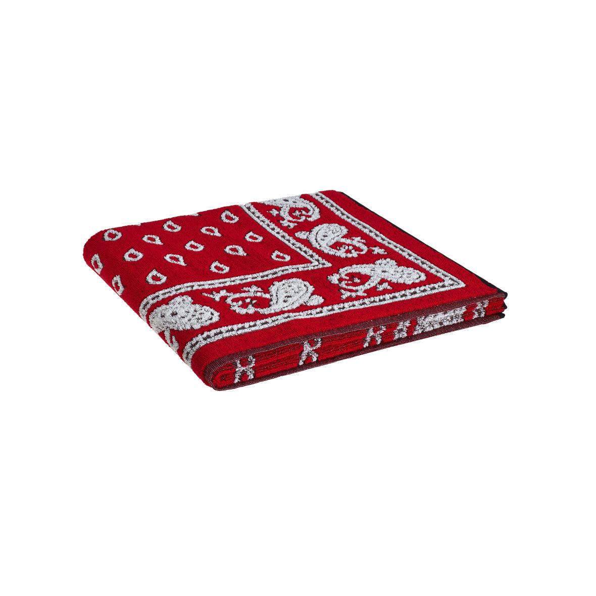 Glarner Handtuch von Weseta, rot weiss