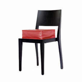 Cojines Kindersitzkissen Schindlersalmeron aus Leder in rot, schwarz und gelb
