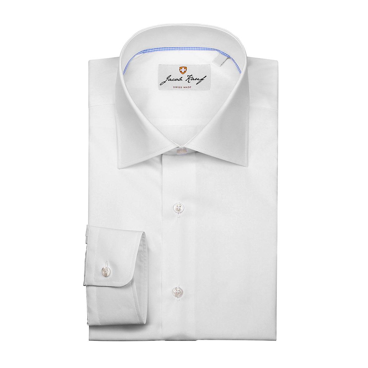 Schweizer Hemd Jacob Kauf, weiss