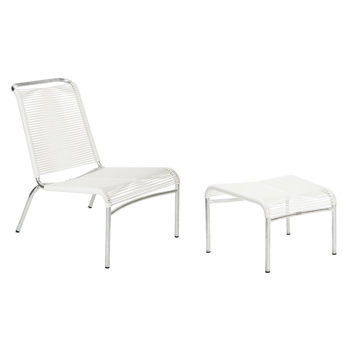 Altorfer Lounge-Set in Weiss mit Armlehnen