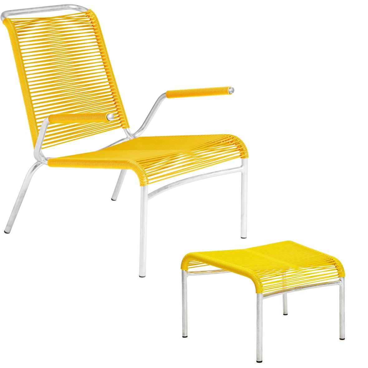 Altorfer Lounge-Set in Gelb mit Armlehnen von Embru