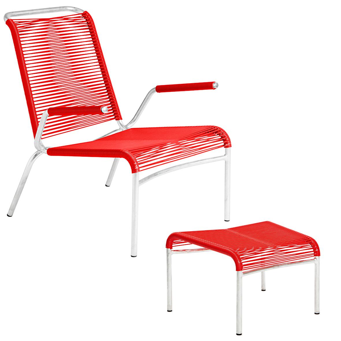 Altorfer Lounge-Set in Rot mit Armlehnen von Embru