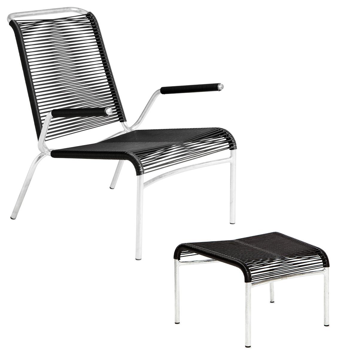 Altorfer Lounge-Set in Schwarz mit Armlehnen von Embru