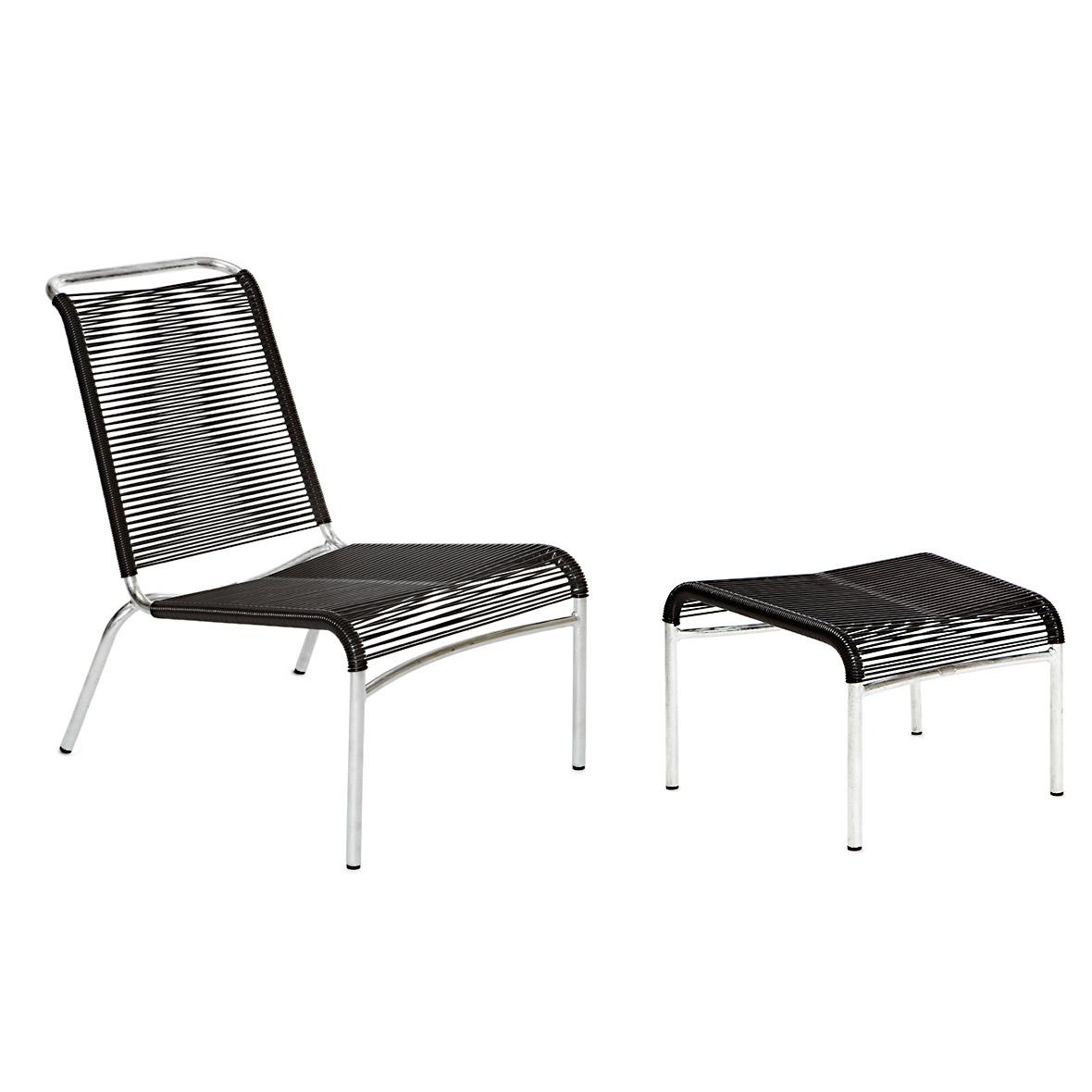 Altorfer Lounge-Set ohne Armlehne schwarz