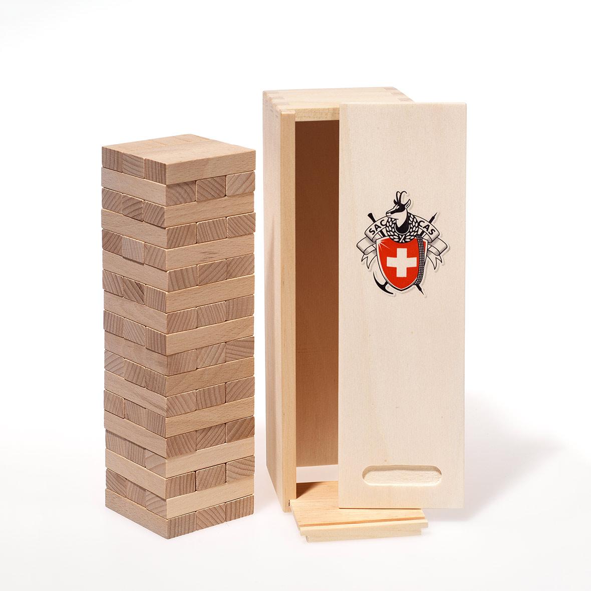Wackelturm-Spiel aus Holz, SAC