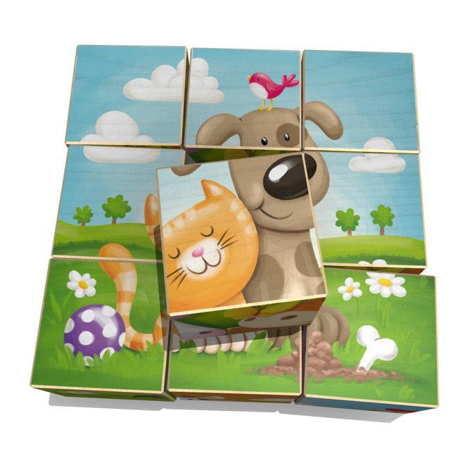 Wuerfelspiel Bauernhof neunteilig von Weizenkorn