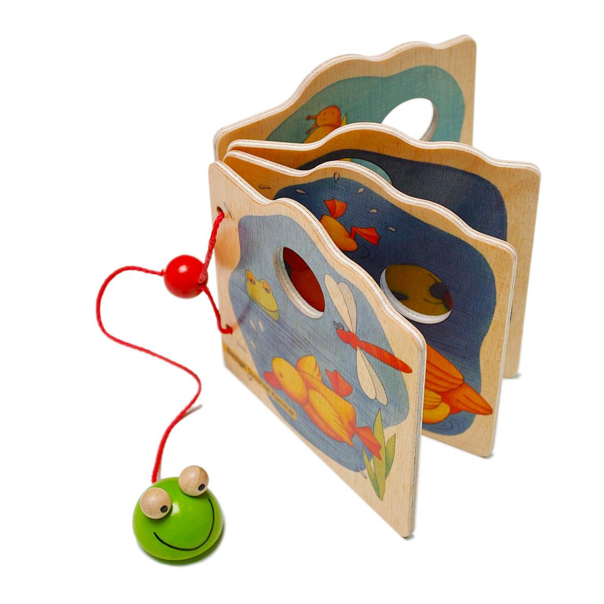 Holzbilderbuch Frosch Kinder von Weizenkorn