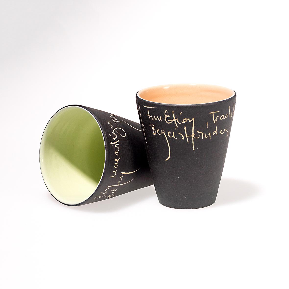 Scrittura Becher klein, Keramik