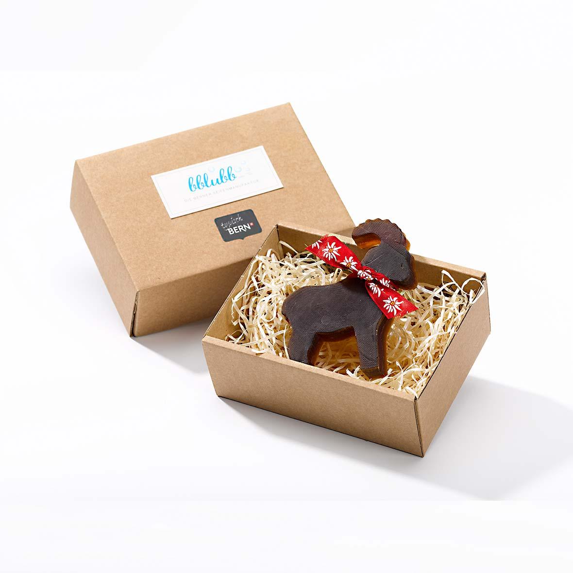 Seife Steinbock aus der Seifenfactory Bblubb in schöner Verpackung