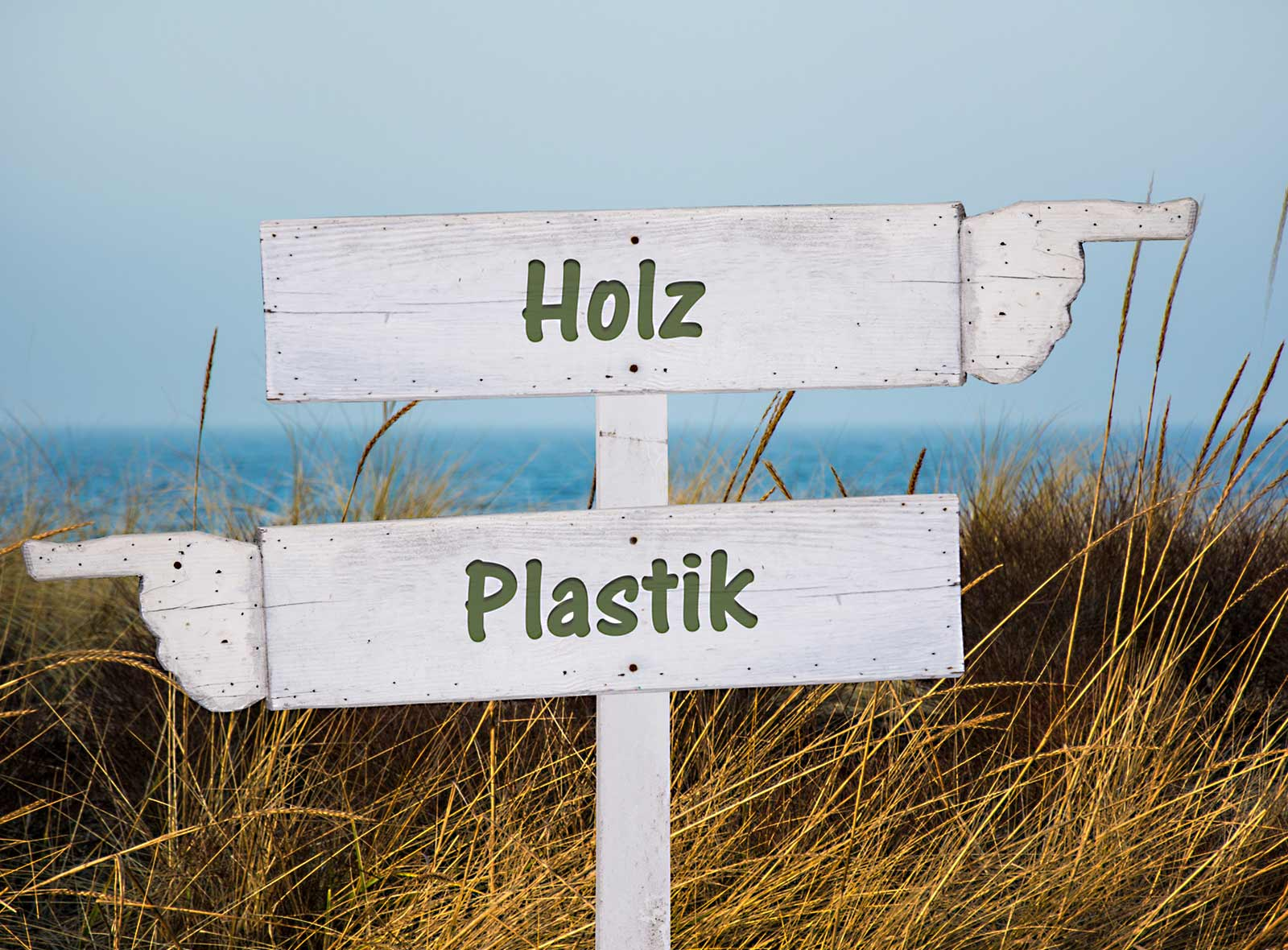 Holz oder Plastik wertvoller Wald