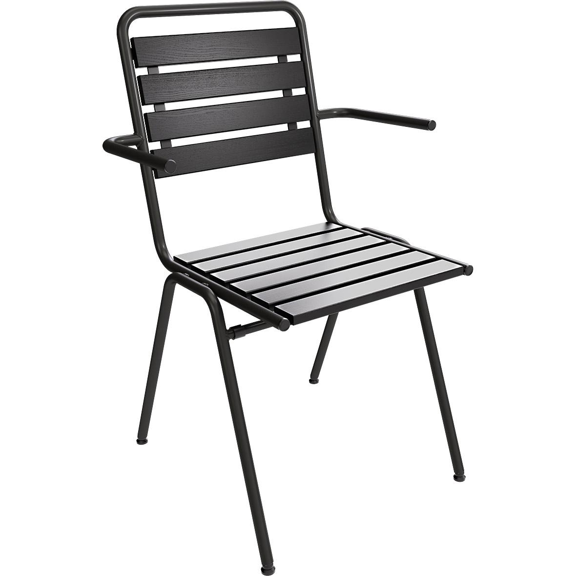 Gartenstuhl Stol Absolut Black mit Armlehne – Special Edition