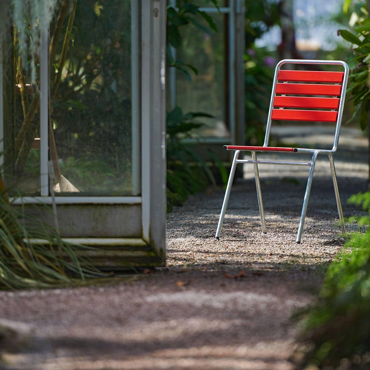Roter robuster Gartenstuhl von Stol