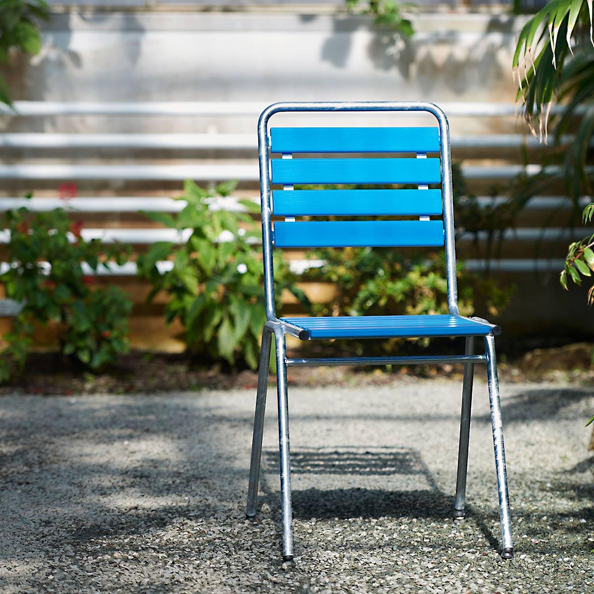 Blauer robuster Gartenstuhl von Stol