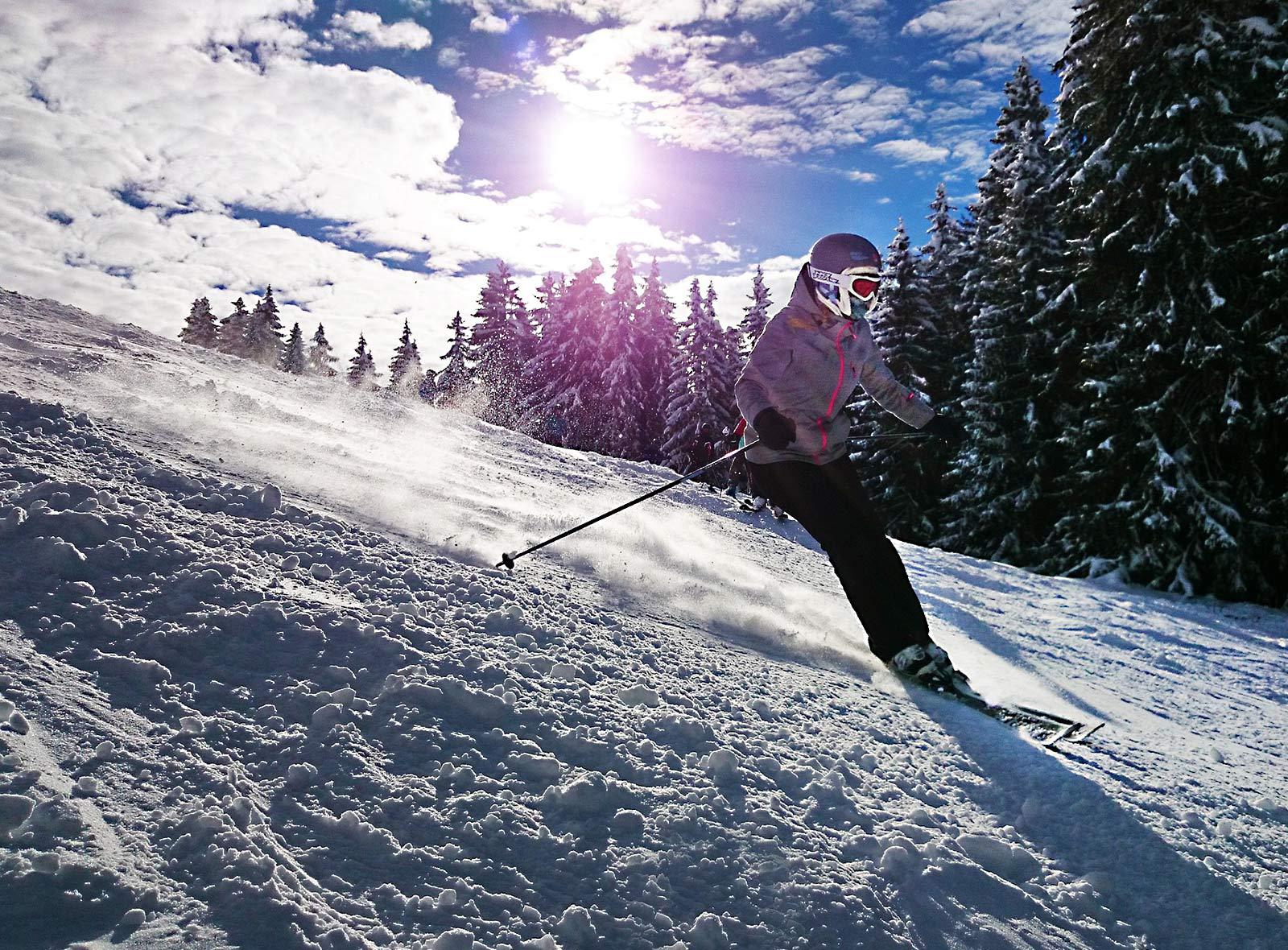 Schulferien Schweiz: Skifahren in der Sportwoche