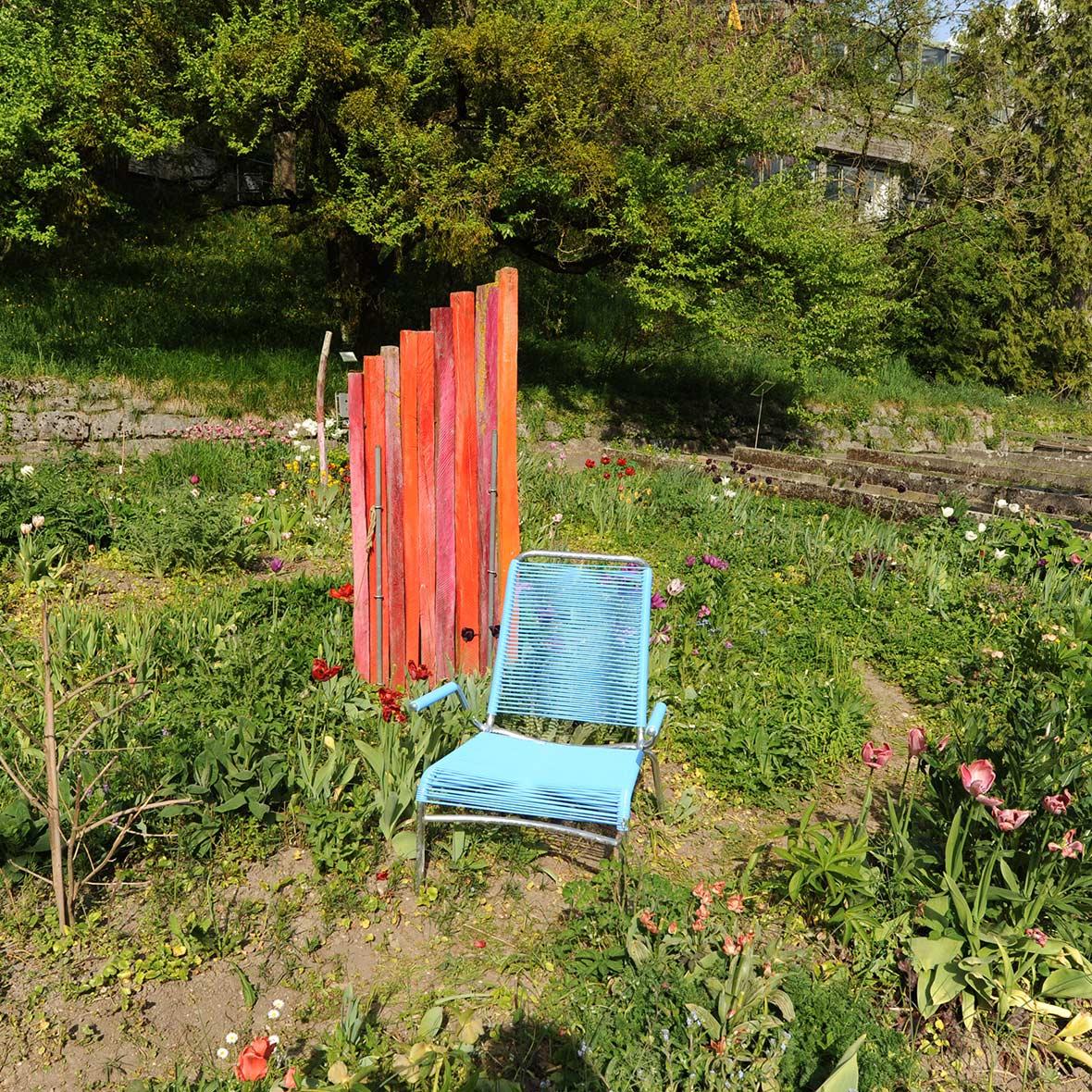 Altorfer Gartenstuhl Farbe Blau von Embru