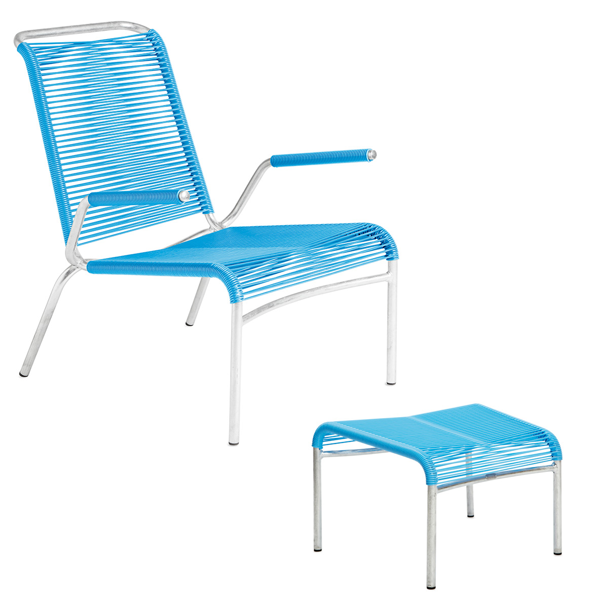 Altorfer Lounge-Set in Hellblau mit Armlehnen von Embru