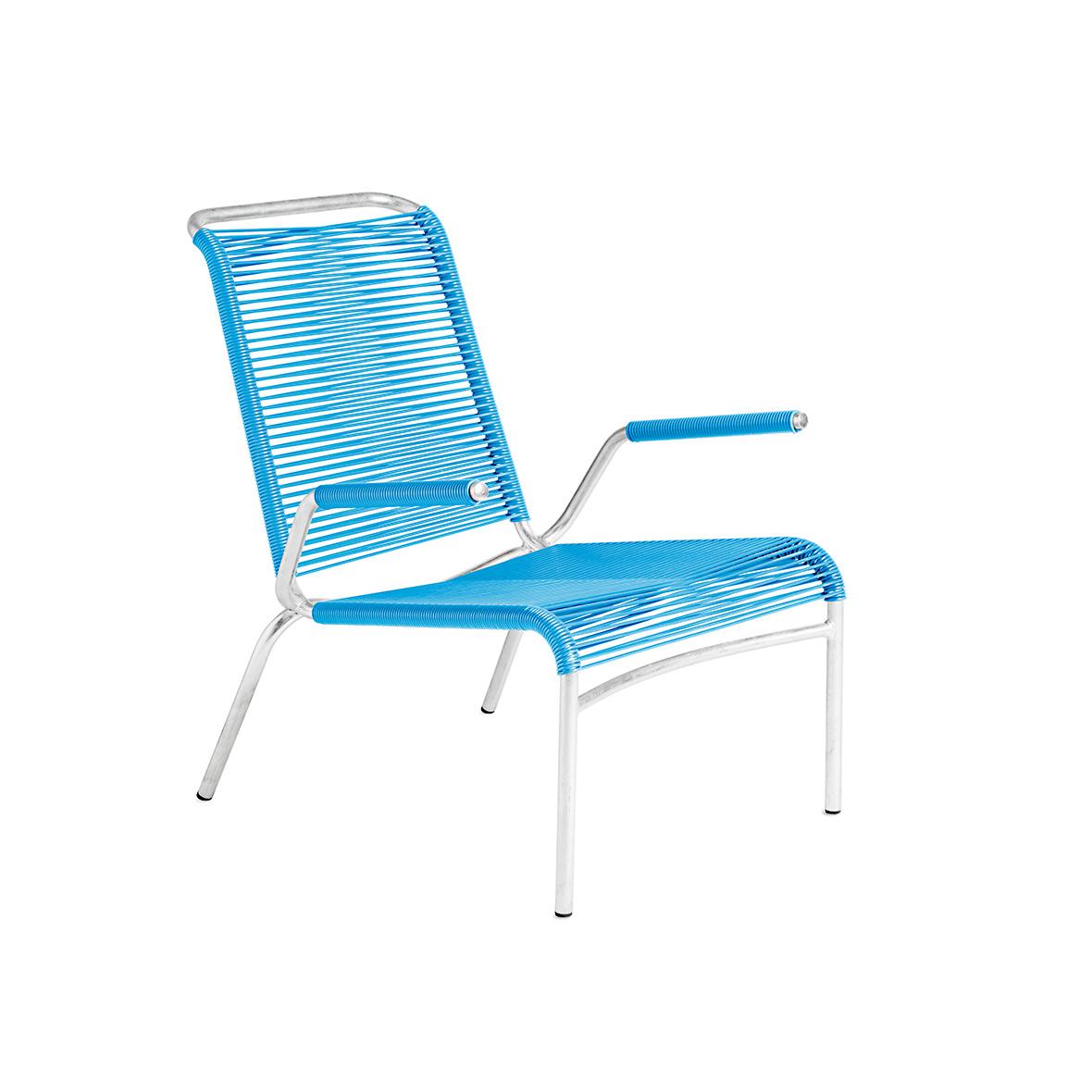 Altorfer Lounge Sessel 1142 mit Armlehne in Hellblau von Embru