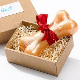 Seife Knochen in hübscher Kartonschachtel von der Seifenfactory Bblubb