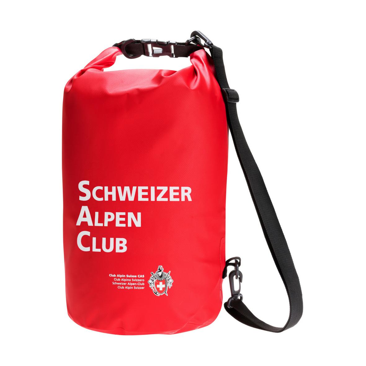 Wasserabweisender Dry Bag 15 Liter mit Aufdruck Schweizer Alpen Club