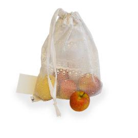 Obstbeutel Fruchtsack, Contact Arbeit Holz + Textil