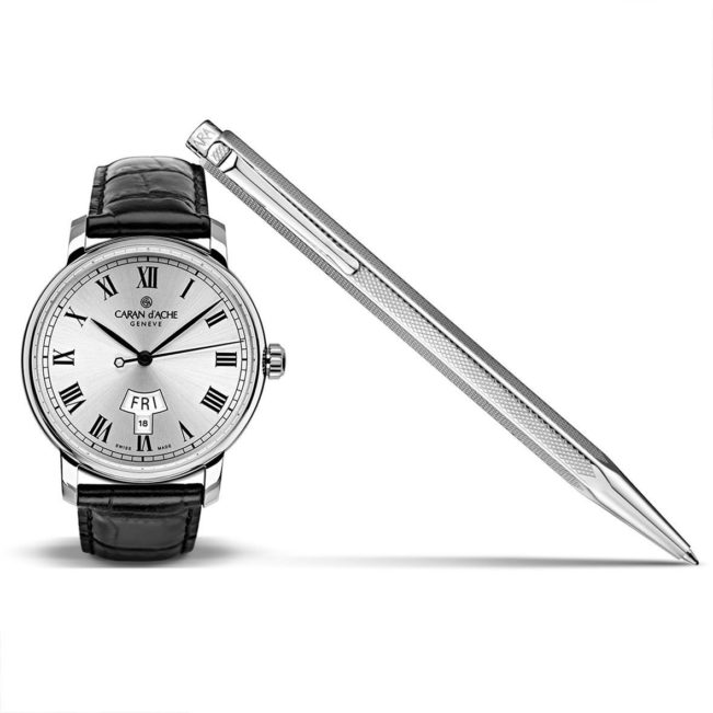 Le Temps d'écrire, pen and steel watch, Caran d'Ache