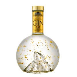 Swiss Gold Gin von Studer, Flasche Matterhorn