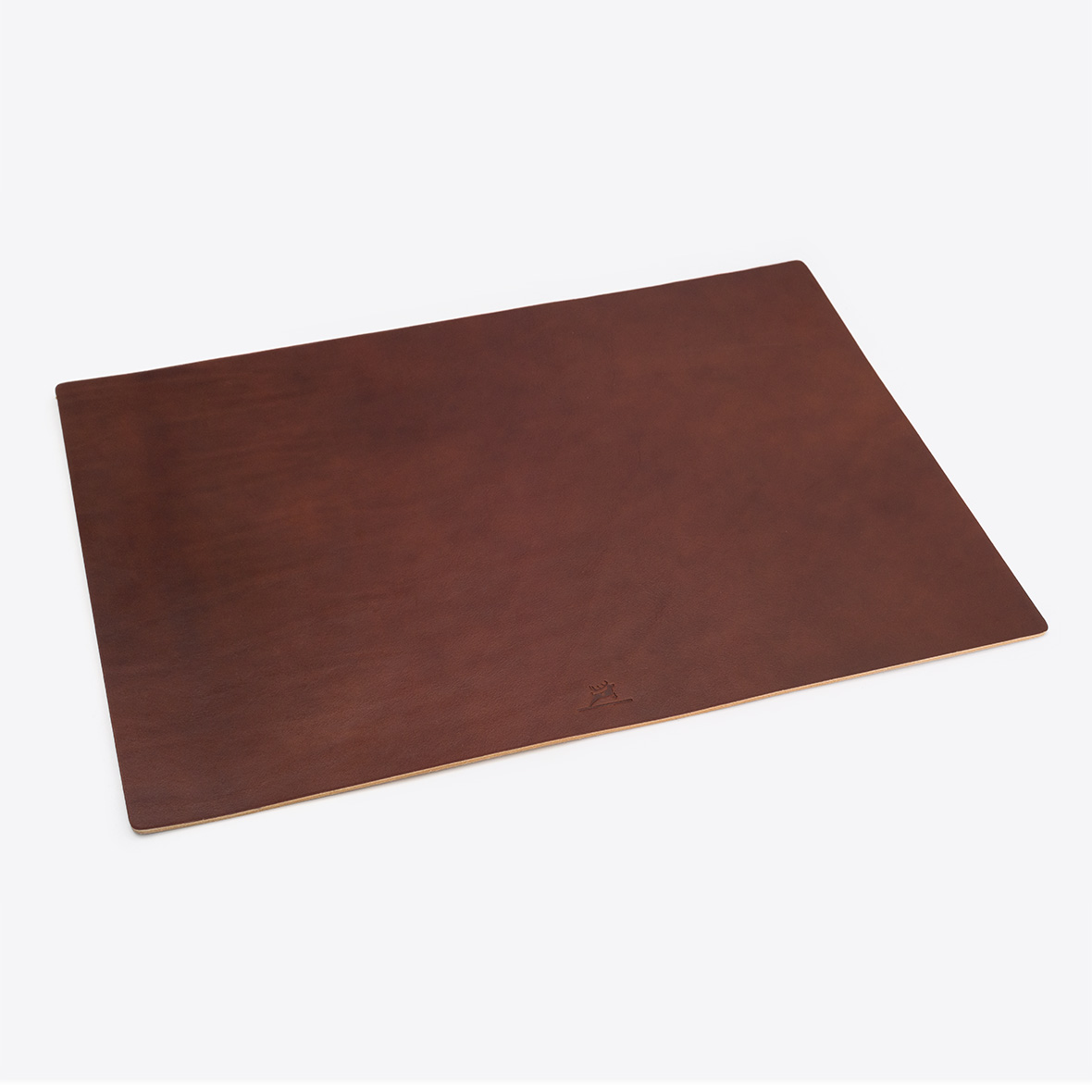Schreibtischunterlage aus Leder Farbe Braun von Rothirsch