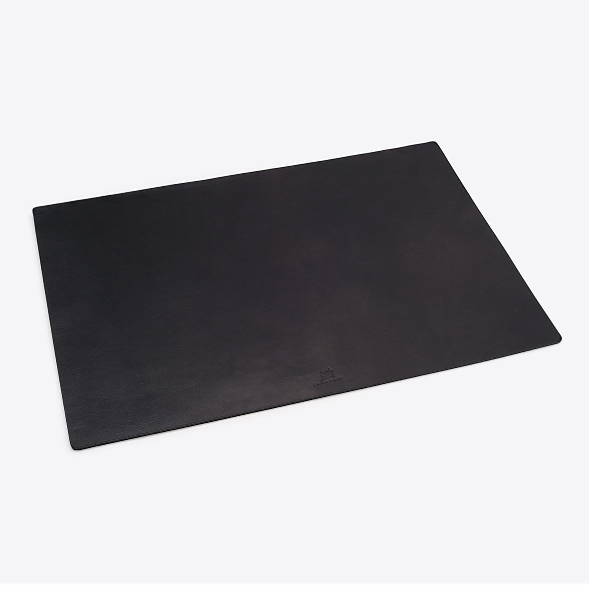 Schreibtischunterlage aus Leder Farbe Schwarz von Rothirsch