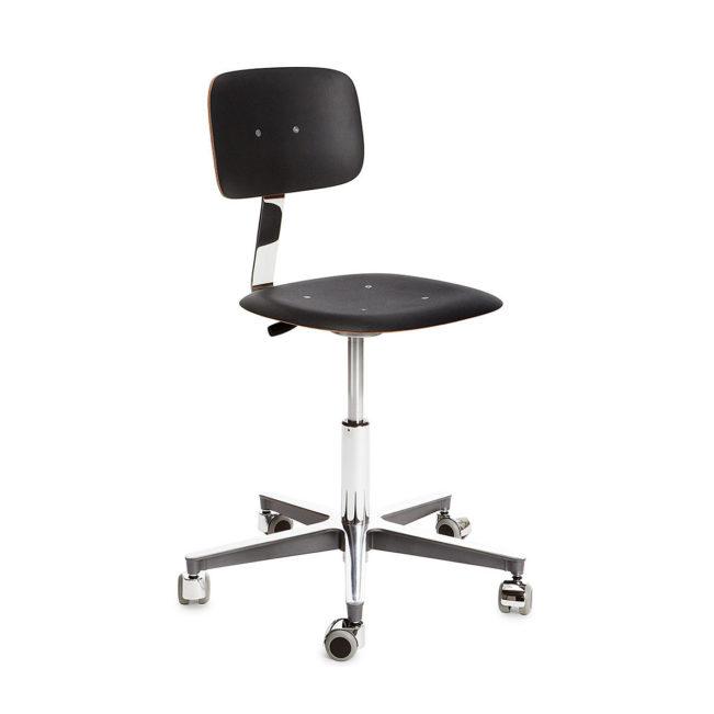 Stuhl Atelier 2100 Schwarz Verchromt von Embru