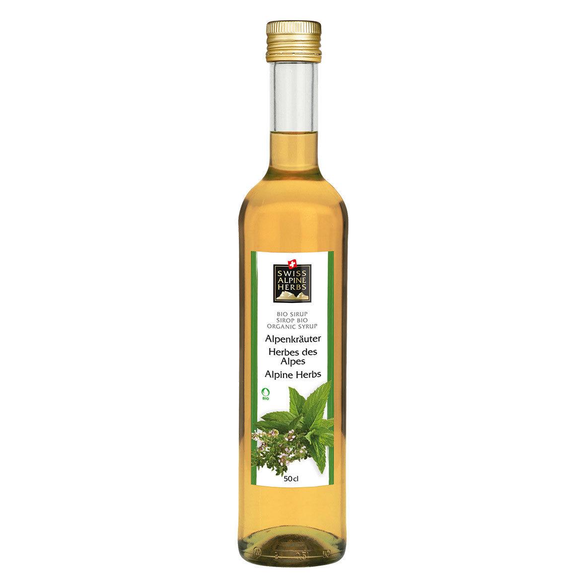 Bio-Sirup Alpenkräuter, Swiss Alpine Herbs