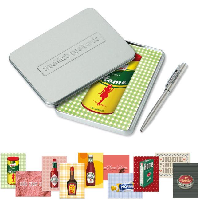 Freshfish Postcard-Box Home Sweet Home