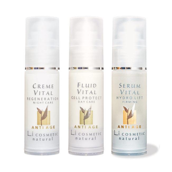 3er-Set Creme Fluid Serum Vital von Li Cosmetic