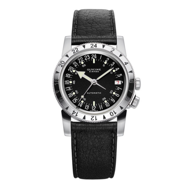 Uhr Airman No.1 von Glycine, schwarz