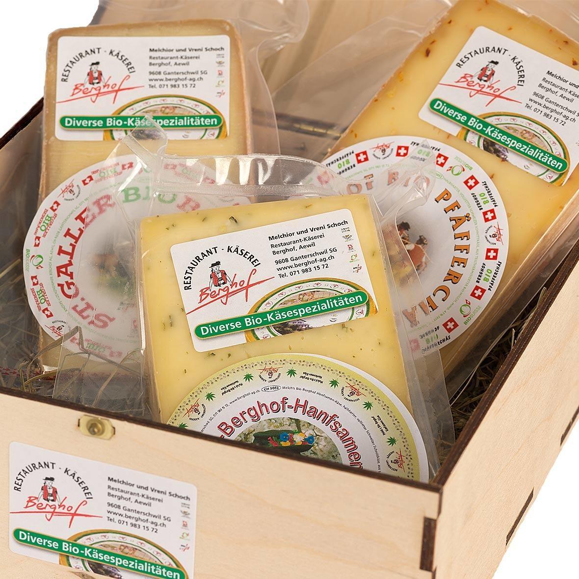 Berghof Käse-Geschenkkiste klein
