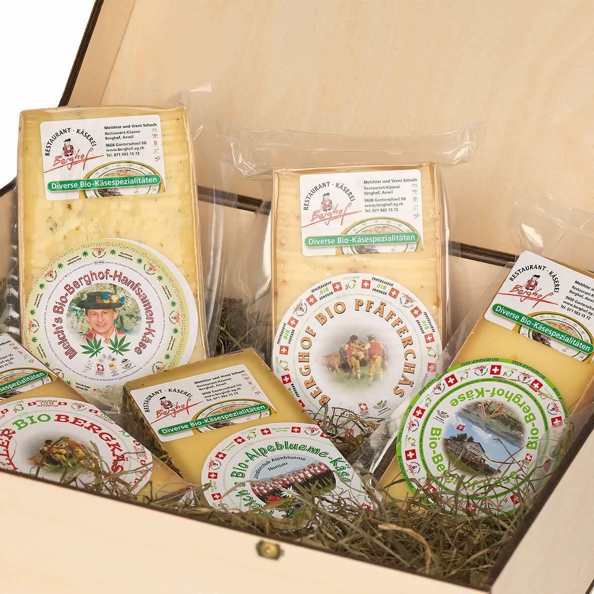 Berghof Käse-Geschenkkiste gross