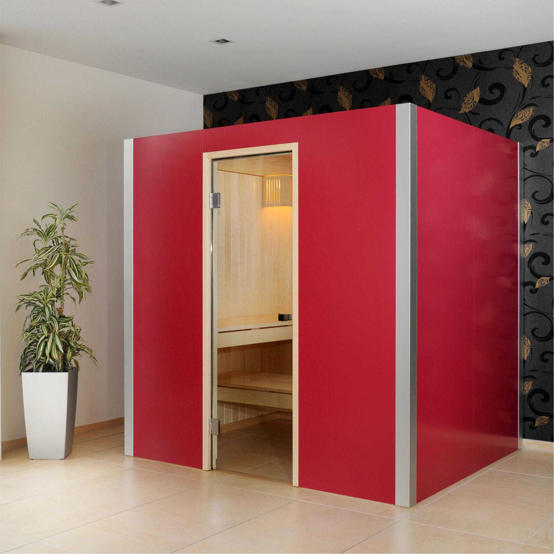 Arvo Sauna lepo Rotviolett von Küng Sauna