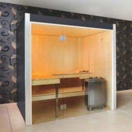 Arvo Sauna lepo Graphitgrau von Küng Sauna