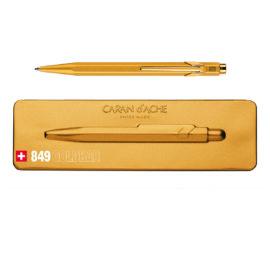 Kugelschreiber 849 Goldbar - extraflachs Etui - gold