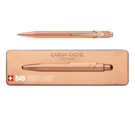 Kugelschreiber 849 Brut Rosé - extraflaches Etui - rosa-gold