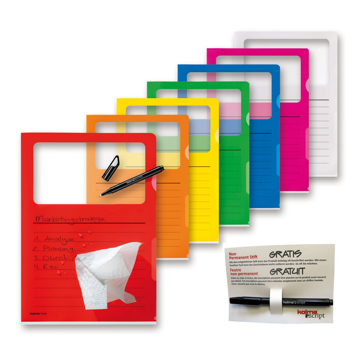 Visa Dossier Script Set A4 farbenrein von Kolma