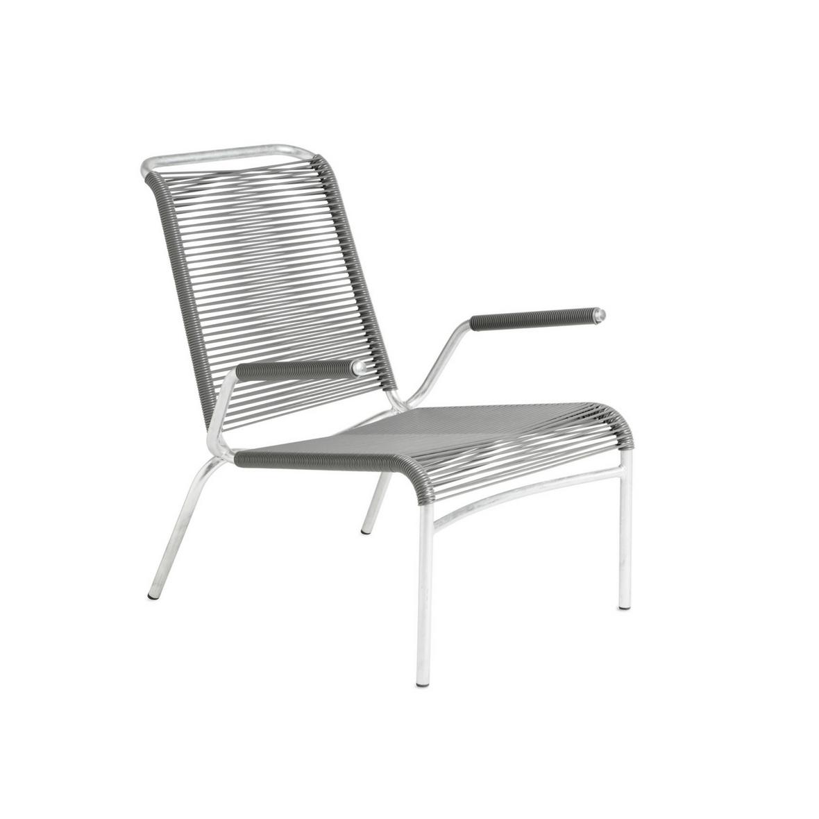 Altorfer Lounge Sessel 1142 mit Armlehne Aschgrau von Embru