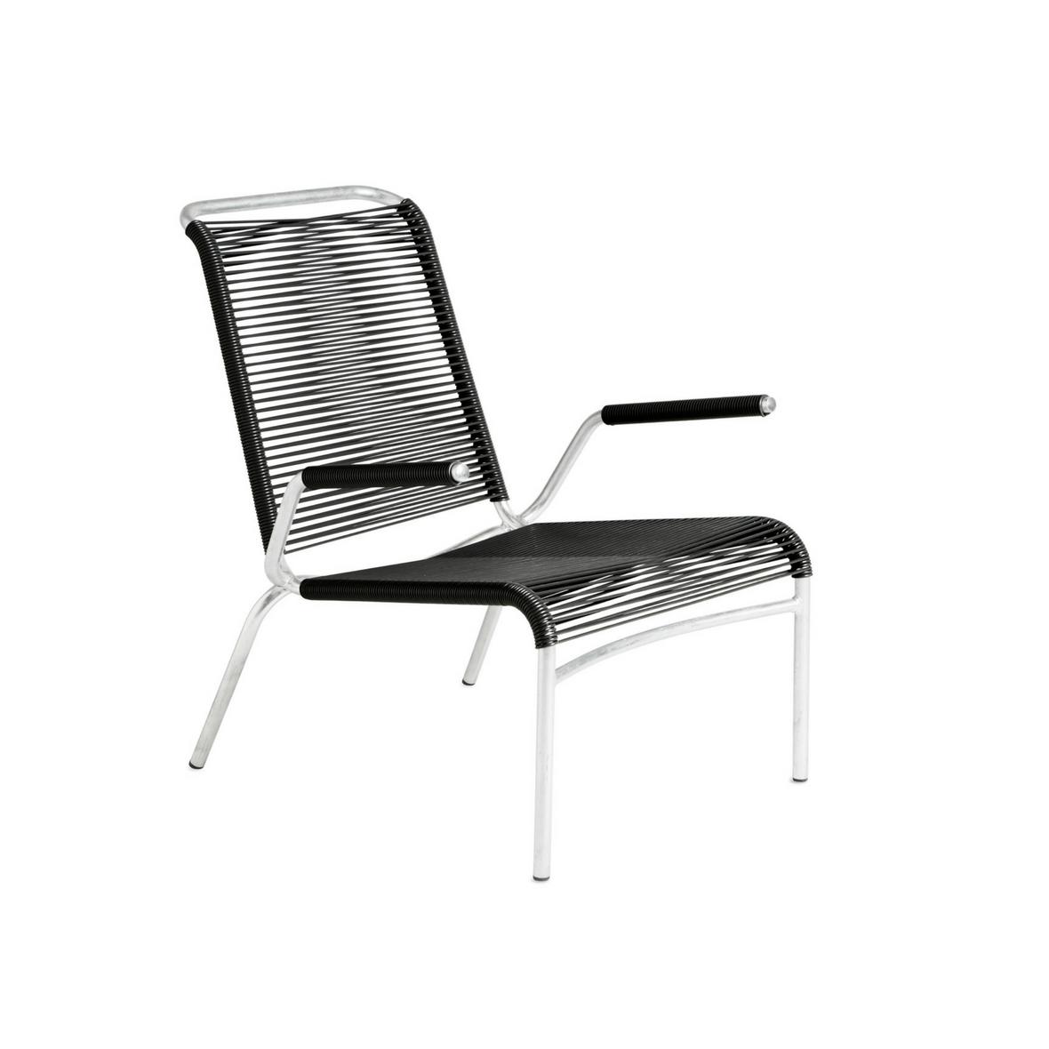 Altorfer Lounge Sessel 1142 mit Armlehne Graphitschwarz von Embru