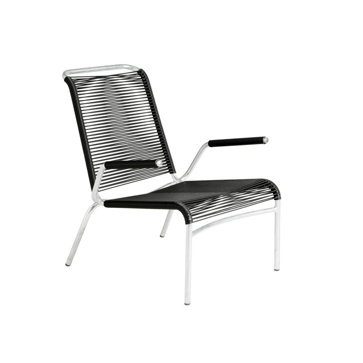 Altorfer Lounge Sessel 1142 mit Armlehne Graphitschwarz Metalissé von Embru
