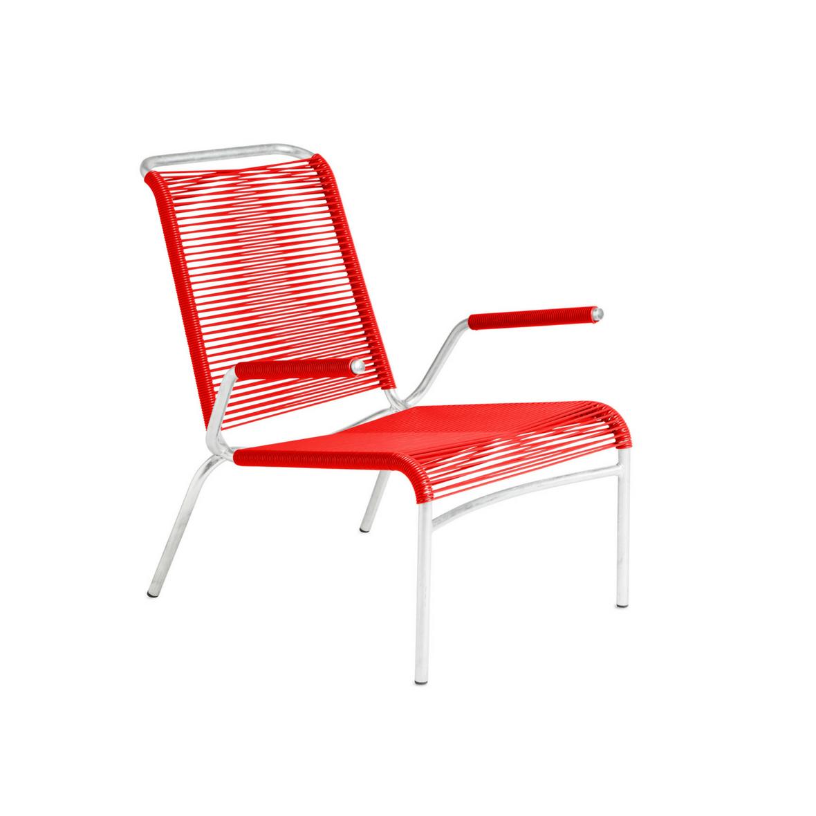 Altorfer Lounge Sessel 1142 mit Armlehne Verkehrsrot von Embru