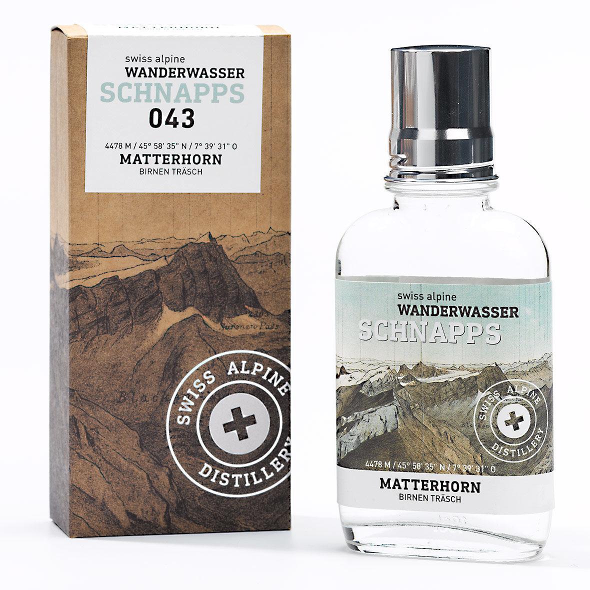 Wanderwasser Birnen Träsch Matterhorn