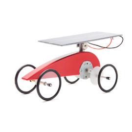 Solar-Holzauto-Bausatz Mouvelette von Solartoys, rot