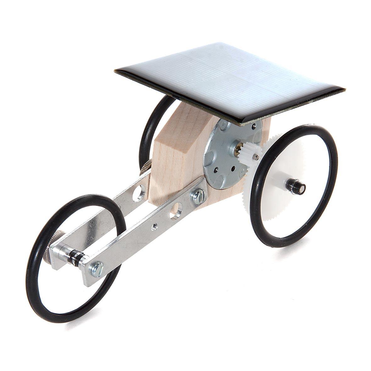 Solar-Holzauto Smobili von Solartoys, Frontansicht