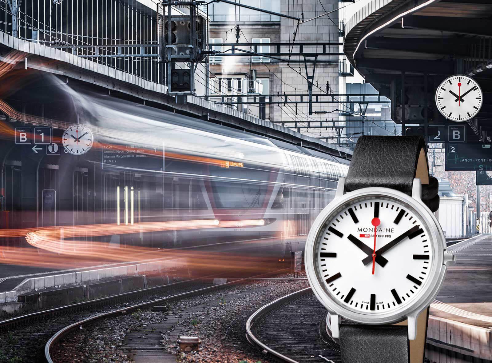Typische Schweizer Produkte Mondaine Armbanduhr