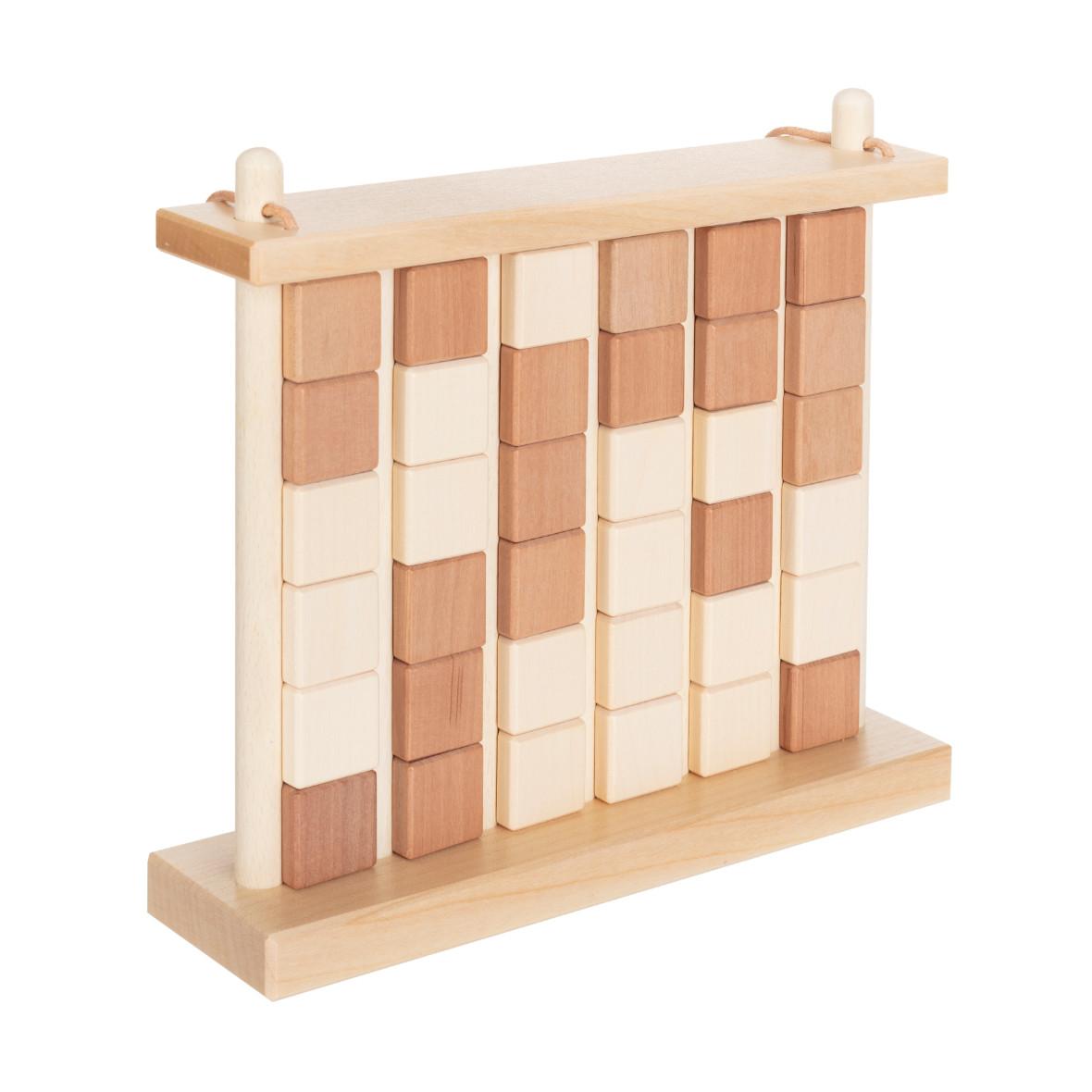 Vier-Gewinnt aus Holz von Ahorn Holz und Spiel, braun und verschlossen